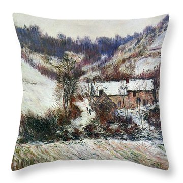 Snow Near Falaise Throw Pillow