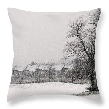Snow Scape London Sw Throw Pillow by Lenny Carter