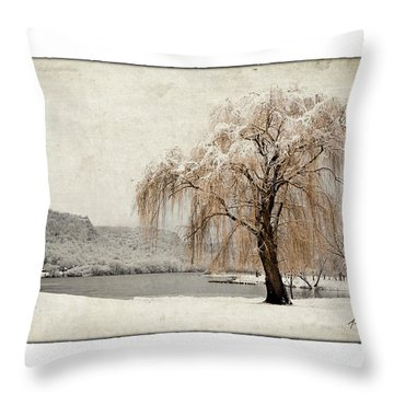 Snow Tree 1 Throw Pillow