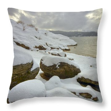 Snowcapped Throw Pillow by Idaho Scenic Images Linda Lantzy