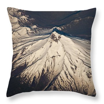 Snowcovered Volcano Andes Chile Throw Pillow by Colin Monteath