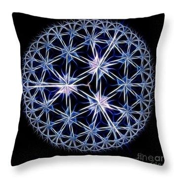 Snowflakes Throw Pillow by Danuta Bennett