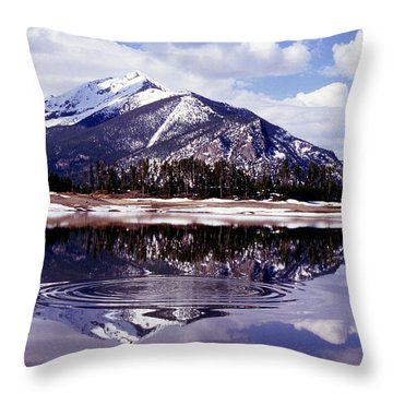 Snowmelt Runoff In The Rocky Mountains Throw Pillow