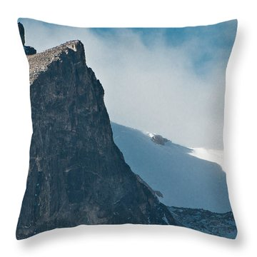 Throw Pillow featuring the photograph Snowy Flatirons by Colleen Coccia