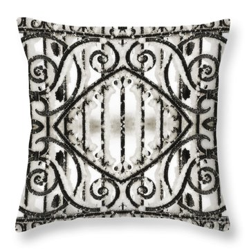 Snowy Forms Throw Pillow