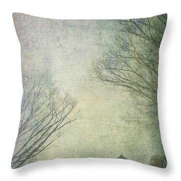 Snuggled Throw Pillow by Eena Bo