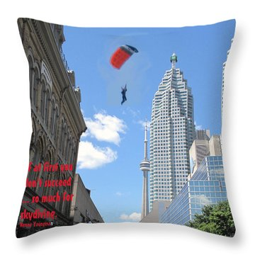 So Much For Skydiving Throw Pillow by Ian  MacDonald