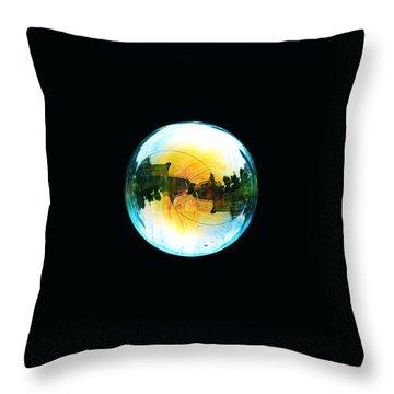 Soap Bubble Throw Pillow by Sumit Mehndiratta