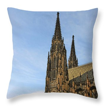 Soaring Spires Saint Vitus' Cathedral Prague Throw Pillow by Christine Till