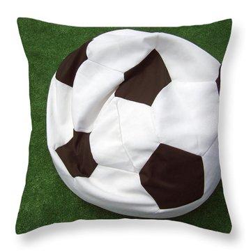 Soccer Ball Seat Cushion Throw Pillow by Matthias Hauser