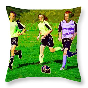 Soccer Throw Pillow by Stephen Younts