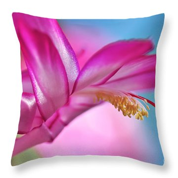 Soft And Delicate Cactus Bloom Throw Pillow by Kaye Menner