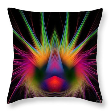 Soft And Stiff Throw Pillow by Klara Acel