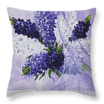 Soft Breeze Throw Pillow by Kume Bryant