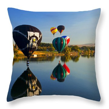 Soft Landings Throw Pillow by Mike  Dawson