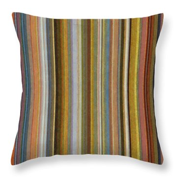 Soft Stripes Ll Throw Pillow by Michelle Calkins