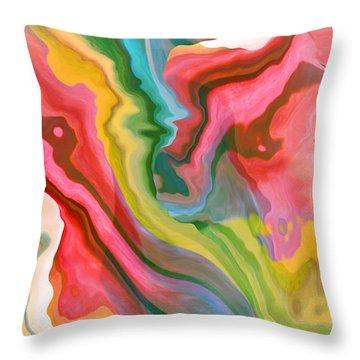 Soft Summer Days Throw Pillow by Ruth Palmer