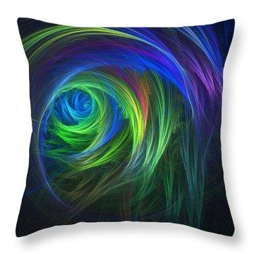 Soft Swirls Throw Pillow by Lyle Hatch