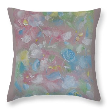 Throw Pillow featuring the painting Softly Spoken by Judith Rhue