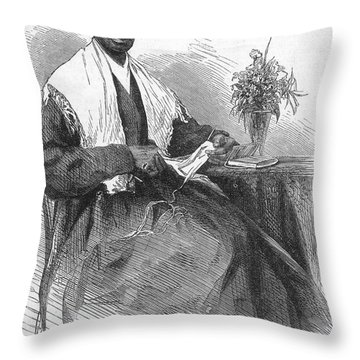 Sojourner Truth (d.1883) Throw Pillow by Granger