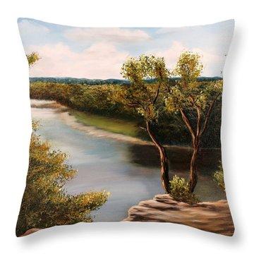 Solado Creek Throw Pillow by Patti Gordon