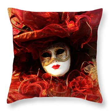 Throw Pillow featuring the photograph Solanges Hat Of Ribbons by Donna Corless