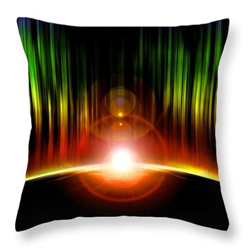 Solar Eclipse Throw Pillow by Svetlana Sewell