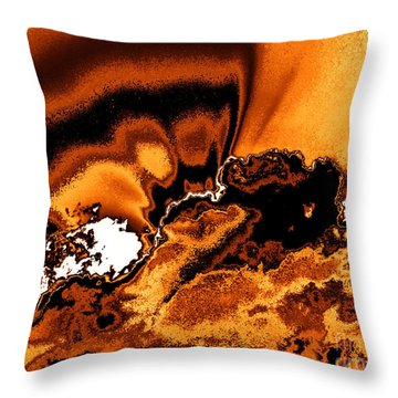 Solar Flare Throw Pillow by Rebecca Margraf