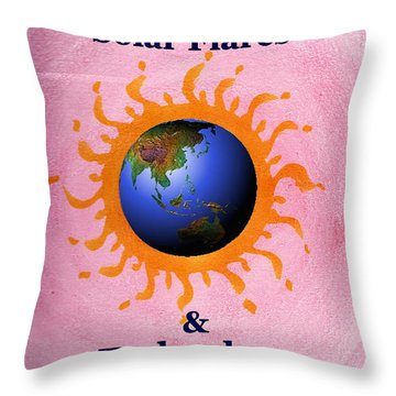 Solar Flares And Technology Throw Pillow