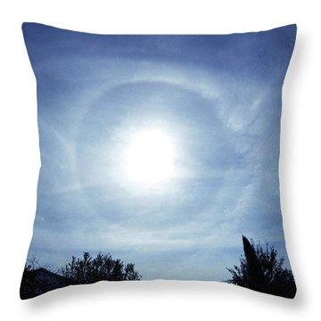 22 Degree Halo Throw Pillows