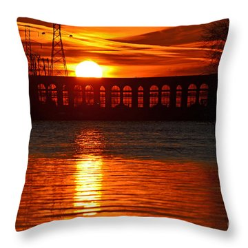 Solar Power Throw Pillow by Sue Stefanowicz