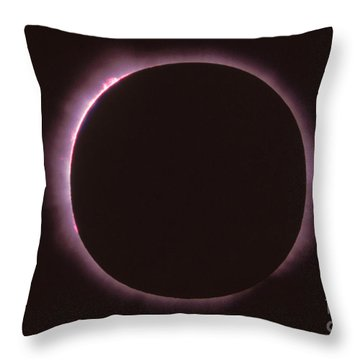 Solar Prominence And Chromosphere Throw Pillow by Science Source