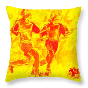 Solar Soccer Throw Pillow by Stephen Younts