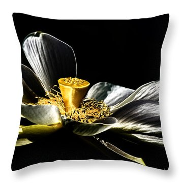 Solarized Lotus A Throw Pillow by Travis Burgess