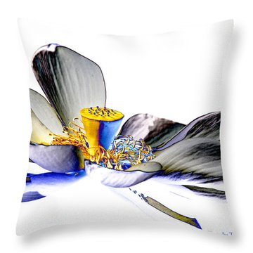 Solarized Lotus C Throw Pillow by Travis Burgess