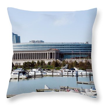 Soldier Field Chicago Throw Pillow by Paul Velgos
