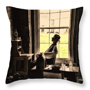 Soldier Of Old Times Throw Pillow by Karol Livote