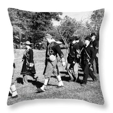 Soldiers March Black And White IIi Throw Pillow by LeeAnn McLaneGoetz McLaneGoetzStudioLLCcom