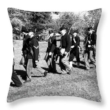 Soldiers March Throw Pillow by LeeAnn McLaneGoetz McLaneGoetzStudioLLCcom