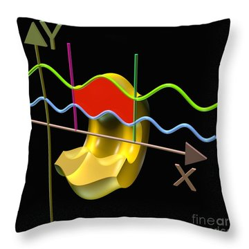 Throw Pillow featuring the digital art Solid Of Revolution 3 by Russell Kightley