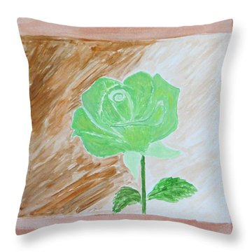 Throw Pillow featuring the painting Solitary Rose by Sonali Gangane