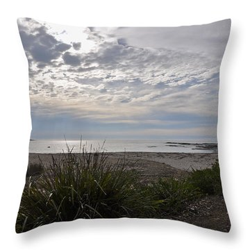 Solitary Sea Kayak At Dawn In Australia Throw Pillow