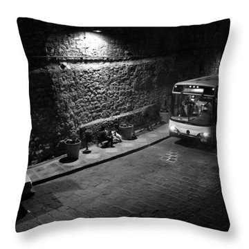 Throw Pillow featuring the photograph Solitary Wait by Lynn Palmer