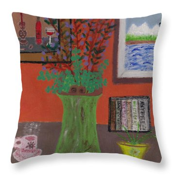 Solitude Throw Pillow by Carol  Eliassen