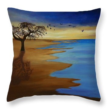 Solitude Throw Pillow by Michelle Joseph-Long