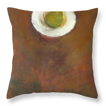 Throw Pillow featuring the painting Solo by Kathleen Grace
