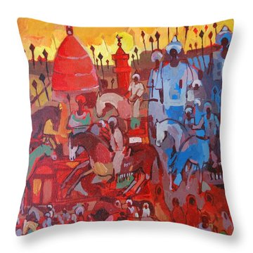 Some Of The History1 Throw Pillow by Mohamed Fadul