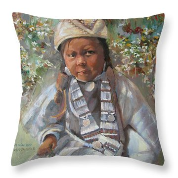 Somebody's Daughter Throw Pillow
