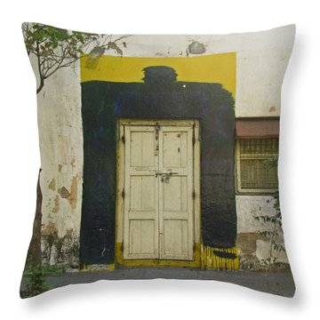 Throw Pillow featuring the photograph Somebody's Door by David Pantuso