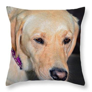 Someone Call Me Throw Pillow by Susan Leggett